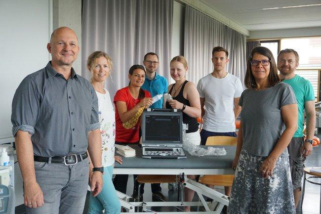 PraktikumsanleiterInnen mit Andreas Stübler, Andreas Jakl, Caterine Schwab und Mario Heller